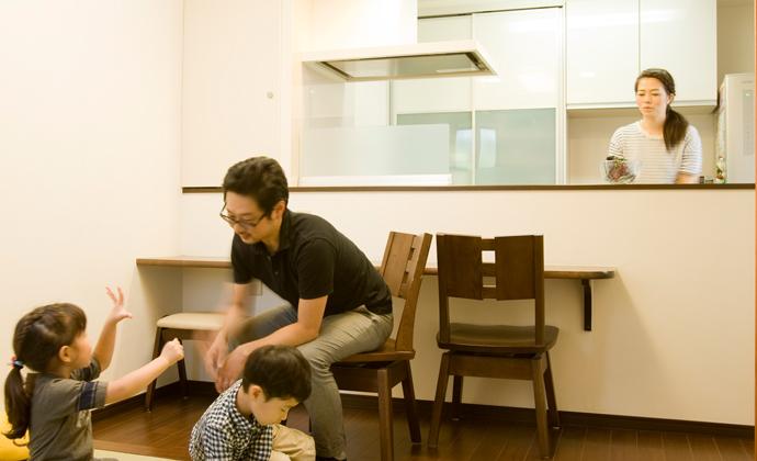 孫が遊びに来やすい間取り変更で 家族の会話も弾む家に(横浜市戸建て全面リフォーム)